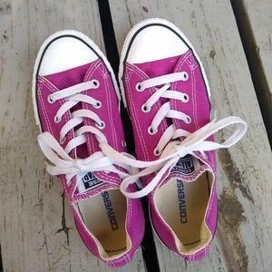 Converse Shoes - Converse • big kids sz 2 purple sneakers